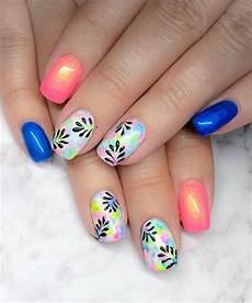 day 55 spring colors nail art simple nail art designs