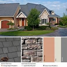 gray stone exterior color schemes davinci roofscapes