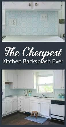 the cheapest diy backsplash lovely etc