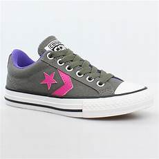 converse all player ox charcoal grau pink