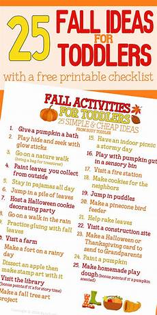 activity list fall bucket list for toddlers busy toddler