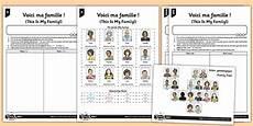 worksheets la famille 18941 worksheet activity sheet voici ma famille