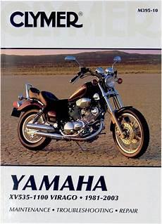 clymer repair manual for yamaha xv535 xv700 xv750 xv920 xv1000 xv1100 virago ebay