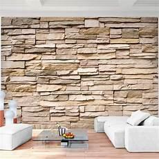 steinwand tapete wohnzimmer fototapeten steinwand 3d effekt 352 x 250 cm vlies wand