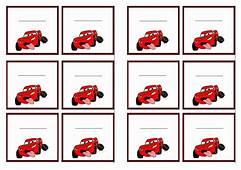 FREE Printable Cars Themed Name Tags