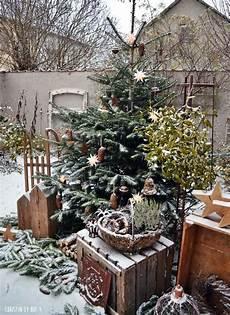 Garten Weihnachtlich Dekorieren - weihnachtsdekoration au 223 endekoration im winter