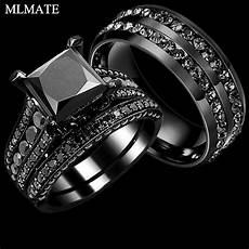 wedding picture black wedding ring sets his and hers