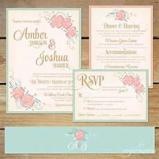 printable wedding invitation suite deer antler pink floral printable floral wedding invitation suite diy wedding