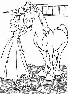 Malvorlage Pferd Prinzessin Cinderella On A Coloring Page Coloring Pages