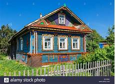 Russland Traditionelles Haus Auf Goritsy Stockfoto Bild