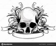 Bilder Zum Ausmalen Totenkopf Totenkopf Mit Blumen Mit Zeichnen