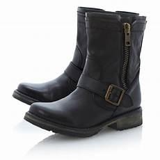 steve madden forrt zipside cleated biker boots in black lyst