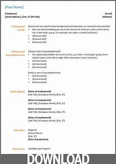 microsoft office 2007 resume templates download 12 free microsoft for microsoft office resume