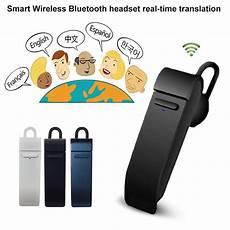 Smart Wireless Bluetooth Translator Real Time by Portable Real Time Smart Translator Earphone 16 Languages