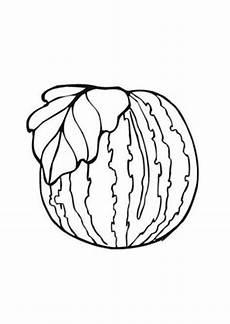 Ausmalbilder Mit Obst Ausmalbild Wassermelone Mit Blatt Kostenlos Ausdrucken