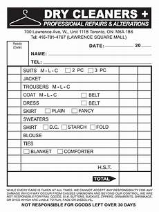 dry cleaning receipt dry cleaners invoice clover printing labels