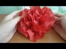 blumen aus servietten basteln how to make a flower of a napkin for 3 minutes