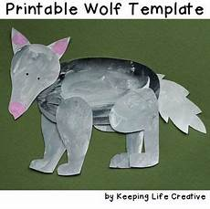 wolf craft project printable template wolf craft