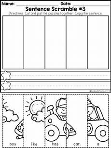 building sentences worksheets free 21032 kindergarten sentence building set 2 by teaching biilfizzcend tpt