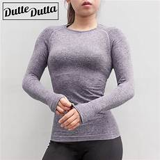 work out sleeve shirts seamless sleeve sport shirt with thumb