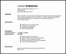 free medical receptionist entry level resume template resume now