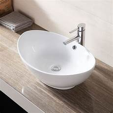 ceramic bathroom sink porcelain vessel vanity basin bowl white w pop up drain ebay