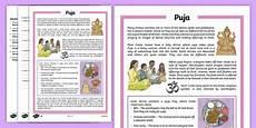 puja differentiated comprehension worksheet worksheet worksheet puja
