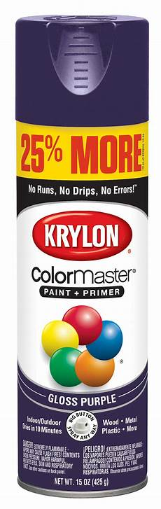 krylon 174 colormaster paint primer gloss purple 15 oz walmart com
