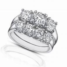 3 band diamond wedding rings 2 25 ct three stone diamond engagement ring with