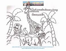 bible animals coloring pages 16909 in the beginning genesis 1 2 here is a quot story of creation quot http cullensabcs vid