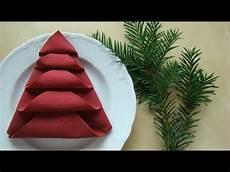 Servietten Falten Tischdeko Weihnachten