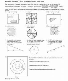 geometry application worksheets 626 geometric probability worksheet 2012 with answer key editable