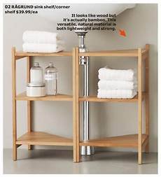Bathroom Shelves Ikea Uk by Ikea Ragrund Sink Shelf Cool Use Of Corner Shelf