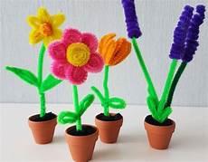 Blume Basteln Kinder - pfeifenputzer blumen basteln einfache diy anleitung f 252 r