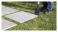 piastrellare fai da te posa a secco su erba gres 20 mm laying on grass