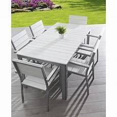 salon jardin aluminium salon de jardin 6 places aluminium composite blanc achat
