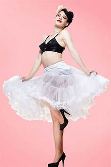 50s retro chiffon petticoat in white