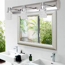 modern crystal mirror bathroom vanity light 6w wall