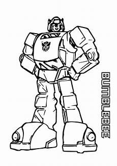 Gambar Mewarnai Transformer Bumblebee Belajarmewarnai Info