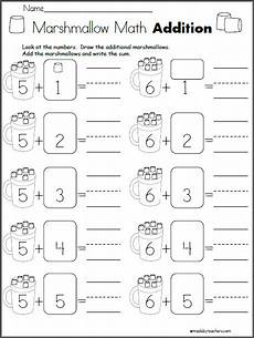 multiplication and worksheets 4315 marshmallow math addition math addition addition kindergarten kindergarten worksheets