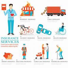 info graphic of business insurance services stock vector