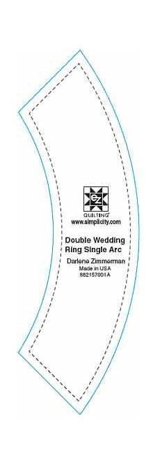 easy double wedding ring single arc by ez quilt template ruler ebay