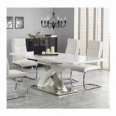 table sejour design table salle a manger design blanc laqu 233 extensible 220cm x