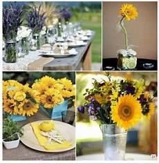 deco chetre anniversaire centre de table tournesol anniversaire 50 ans table mariage fleurs mariage et fleurs