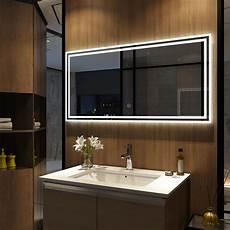 badspiegel mit led badspiegel mit beleuchtung wandspiegel spiegel touch