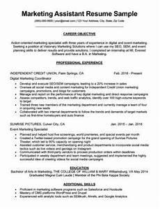 marketing intern resume sle writing tips resume companion