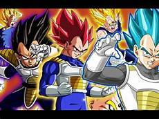 all of vegeta s forms and transformations youtube