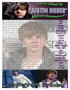made this quot justin bieber quot word search for my s