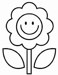 simple flower coloring page flower coloring pages kids coloring day easy coloring pages