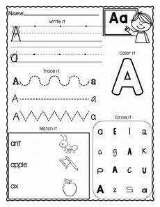 kindergarten letter a worksheets 23374 a z letter worksheets set 3 alphabet worksheets